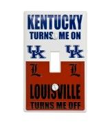 Great for the Wildcat fanatics' room, this light switch cover lets everyone know where you stand when it comes to the Wildcats and Cards. This product fits an average household light switch and includes two screws for installation.
