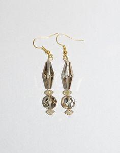 Handmade Pierced Earrings Irridescent Gold by EASTandWESTJewelry, $12.95