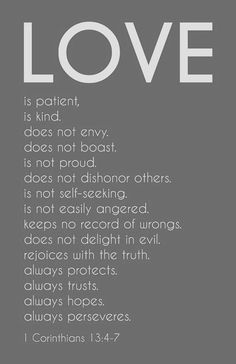 what it means to love one another