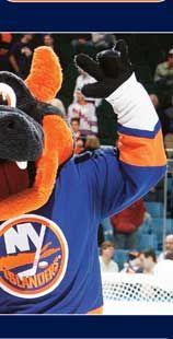 New York Islanders Mascot - Sparky  Created by Street Characters Inc.
