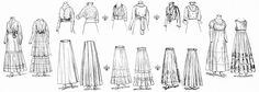 These pieces of ladies vintage clothing are from the July 1915 issue of The Delineator magazine. Click on image to enlarge.