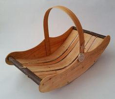 Welsh Market Trug with willow sides trug by CottageCoppicing