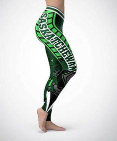 Saskatchewan (HQ) Sports Leggings Go Rider, Saskatchewan Roughriders, Sports Leggings, Game Night, Active Wear, Cars, Tank Tops, Fitness, Fabric