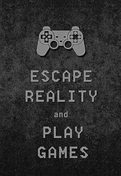 Fugir da realidade e jogar jogos