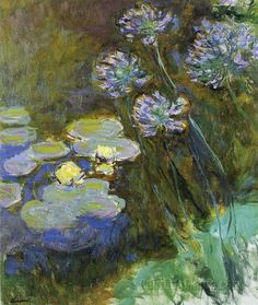 Claude Monet, Water-Lilies and Agapanthus, 1914-17. Musee Marmottan