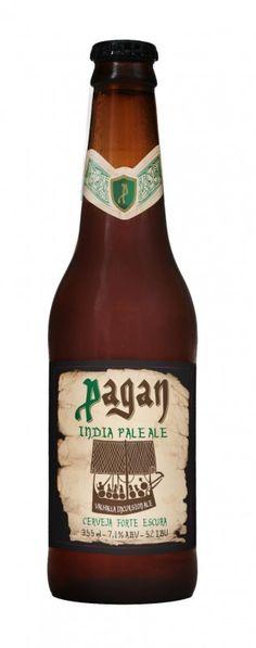 Cerveja Pagan IPA, estilo India Pale Ale (IPA), produzida por Gaudenbier Cervejaria, Brasil. 7.2% ABV de álcool.