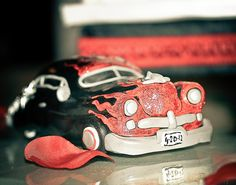 Rockabilly Cake Toppers car by I Do Cake Toppers, via Flickr