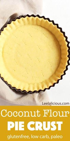 Low Carb Recipes This Coconut Flour Pie Crust makes it possible to enjoy gluten free pie that also is low carb. There is even a paleo and vegan option. Add your favorite fillings to this delicious flaky crust. Low Carb Pie Crust, Vegan Pie Crust, Gluten Free Pie Crust, Pie Crust Recipes, Gluten Free Baking, Pie Crusts, Gf Pie Crust Recipe, Gluten Free Quiche Crust, Casserole Recipes