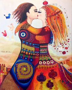 Biography c a n a n b e r b e r Canan Berber was born in Merzifon, Turkey. She has taken up painting in early childhood. Klimt, Social Media Art, Arte Tribal, Turkish Art, Cute Cartoon Wallpapers, Couple Art, All Art, Online Art, Collage Art