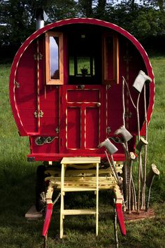 I love the gumboot / wellington tree holder... and of course the gypsy van