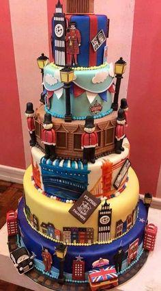 Cake Day, Birthday Cake, Rainbow, Cakes, London, Desserts, Inspiration, Color, Recipies