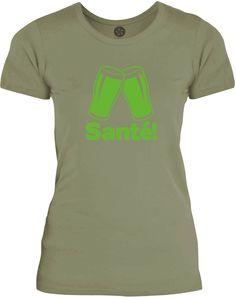 Big Texas Flemish Cheers (Green) Womens Fine Jersey T-Shirt