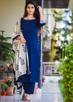 Designer Women Clothing Store - Handcrafted & Block printed Ethnic Wear for Women Silk Kurti Designs, Churidar Designs, Kurta Designs Women, Kurti Designs Party Wear, Pakistani Dresses Casual, Indian Gowns Dresses, Pakistani Dress Design, New Designer Dresses, Indian Designer Outfits