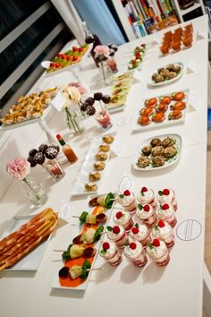 Canape Party Tablescape