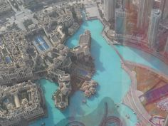 "View from ""at the top"" Burj Khalifa - Dubai - AMAZING...!!"