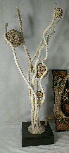 Mooi voor op dressoir For All Occasions, Inc. Natural Sculpture ((bloemschikken))
