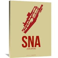 Naxart 'SNA John Wayne Poster 2' Painting Print on Wrapped Canvas Size: