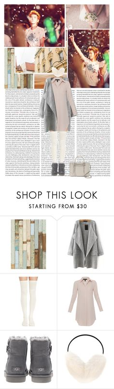 """""""Yifan"""" by seoulmate00 ❤ liked on Polyvore featuring Xander, UGG Australia, Yves Salomon and Rebecca Minkoff"""