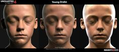 Young a drake by Frank Tzeng for Uncharted 4, lighting head