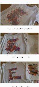 Decorar camiseta con ceras