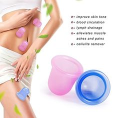 #trendingproducts 2 Colors Anti Cellulite Cups Massage Cupping Body Cups Silicone Therapy +Drawstring Bag +Detailed Instruction, Cupping for Anti-Cellulite,Lymphatic Drainage and Alleviates Muscle Soreness - Cellulite Removal - helps improve blood flow and boost lymphatic drainage,You can use it on your neck, back, chest and legs,your skin will look and feel smoother and firmer with a visible reduction in the appearance of cellulite.Chinese cupping therapy-our cellulite cups have been…