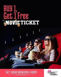 #Fastticket BOGO Offer - Buy 1 #Movie Ticket & Get 1 #Ticket Free.