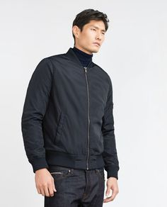 Large.  BOMBER JACKET WITH QUILTED LINING - Casual - Jackets - MAN | ZARA United States