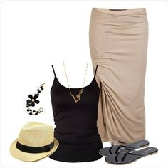 CHATA'S DAILY TIP: A versatile maxi-skirt for both work and weekend wear! Stylish with a smart top and professional heels, and sexy with a strappy top and casual sandals. Keep your skirt tapered to ensure you look as flattering as possible (the wider the skirt the wider the body). COPY CREDIT: Chata Romano Image Consultant, Samantha Moir http://chataromano.com/consultant/samantha-moir/ IMAGE CREDIT: Style and Fashion's Facebook page