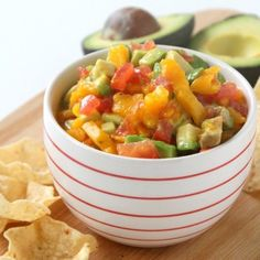 Sweet and Spicy Mango Salsa HealthyAperture.com
