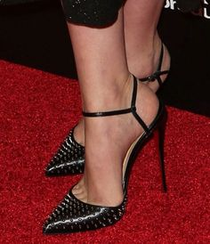 "Carey Mulligan Stuns in Glittery Erdem Dress and New Christian Louboutin ""Baila Spike"" Pumps"