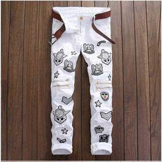 36.98$  Buy here - https://alitems.com/g/1e8d114494b01f4c715516525dc3e8/?i=5&ulp=https%3A%2F%2Fwww.aliexpress.com%2Fitem%2FBiker-Jeans-Men-Homme-Hiphop-Badge-Patchwork-Jeans-Knee-Zipper-Design-Casual-Straight-Slim-Jeans-Pant%2F32693744326.html - Biker Jeans Men Homme Hiphop Badge Patchwork Jeans Knee Zipper Design Casual Straight Slim Jeans Pant Close-fit Rock Ripped Jean 36.98$