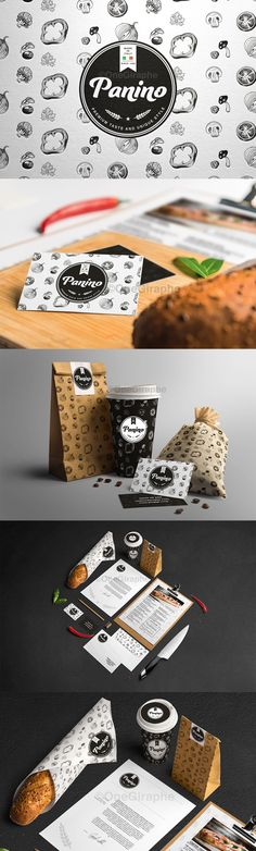 Coffee, cafe, bakery, panini design
