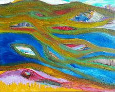 New, fun, colorful, abstract painting! I could be wrong, but I think it's a landscape...yeah... ;)  https://www.etsy.com/listing/267817347/colorful-abstract-painting-paintings-art  #ArtBySarahHinnant  #Etsy