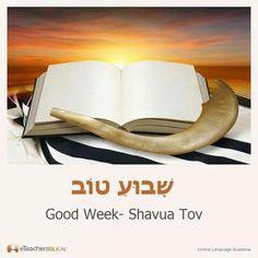 Hebrew nice week - shavua tov