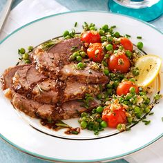 Rosemary Roasted Lamb Recipe -Who knew so few ingredients could result in such an elegant and savory entree? One bite will make this no-fuss main dish memorable. Irish Recipes, Lamb Recipes, Cooking Recipes, Meat Recipes, Lamb Dishes, Spring Recipes, Side Dishes Easy, Different Recipes, Matthew Lawrence
