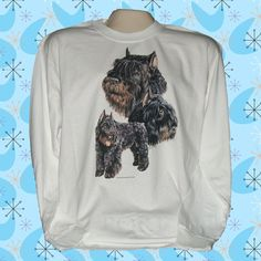 Bouvier+Des+Flandres+Dog+Long+Sleeve+100%+Cotton+T-shirt
