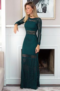 Vestido New Boheme Petroleo - Galeria Tricot