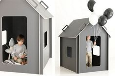 pictures: Nico Backström I just made the first order. Maja* playhouse, my design for kids is now on production. My cooperation . Kids Indoor Playhouse, Build A Playhouse, Cardboard Crafts, Inspiration For Kids, Baby Furniture, Kid Spaces, Cubbies, Kids House, Play Houses