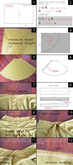 Pretty Quirky Pants | DIY Half Circle Maxi Skirt + Tie Waist
