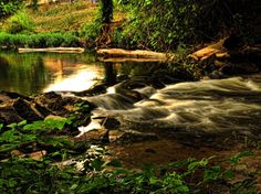 Brook Rapids Stream Water Photography Art Canvas Print 16x20 Multiple Sizes