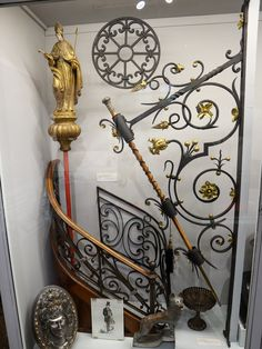 A selection of decorative projects including curved pulpit balustrading and an ornate forged staff-holder. Rope Maker, Visit Tour, Tours France, Faberge Eggs, Cultural Experience, Copper And Brass, Blacksmithing, Middle Ages, Metal Working