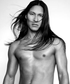 Rick Mora, don't know him but love the long hair and beautiful features :)