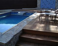Lounge and swim with this deck-side Endless Pool.