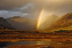 Rainbow in Connemara, County Galway, Ireland.