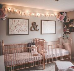 """601 Likes, 3 Comments - INCY INTERIORS STORE (@theincystore) on Instagram: """"A very pretty twin nursery in a USA customer's home featuring our Ellie cribs! Thank you for…"""""""