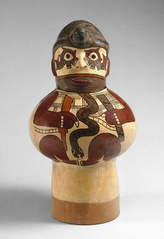 Drum, 1st century, Peru - Culture: Nasca - Ceramic