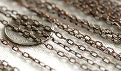 US $19.20 - Wholesale antique copper plated brass chain link vablr chains 1.6mm (36ft) - from seller nice-studio on Ebay.com