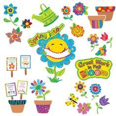 Spring Garden Bulletin Board Set, CTP4726