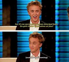 Guys--Tom Felton is Leo Valdez. HOW HAVE I NOT SEEN THIS YET