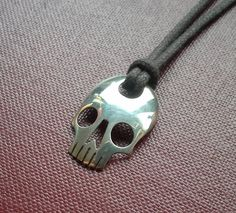 Silver Skull Spoon Pendant by JackDoeJewellery on Etsy